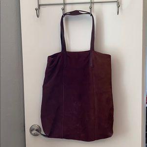 Maroon Leather Bag